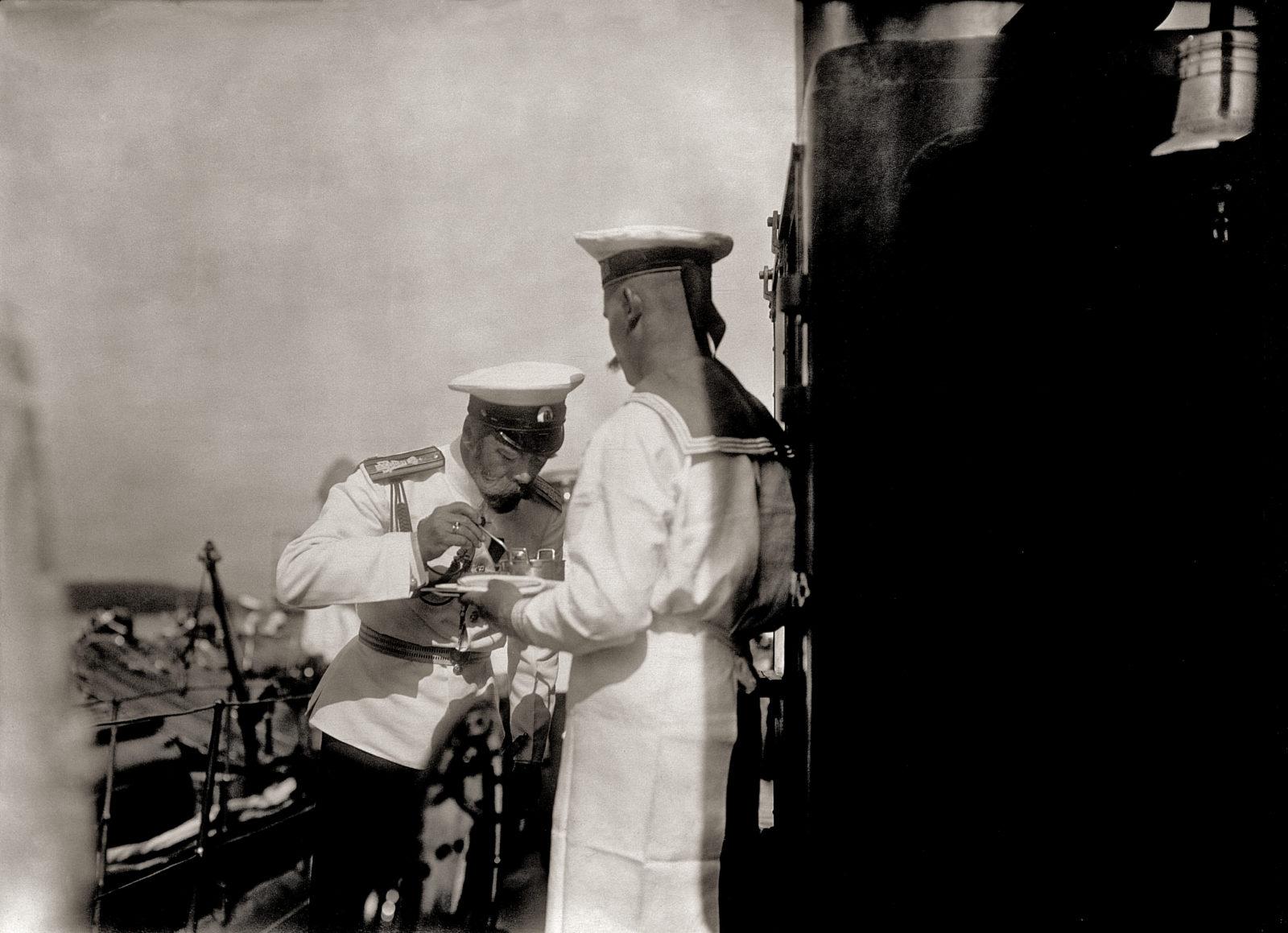 Nicholas II eating