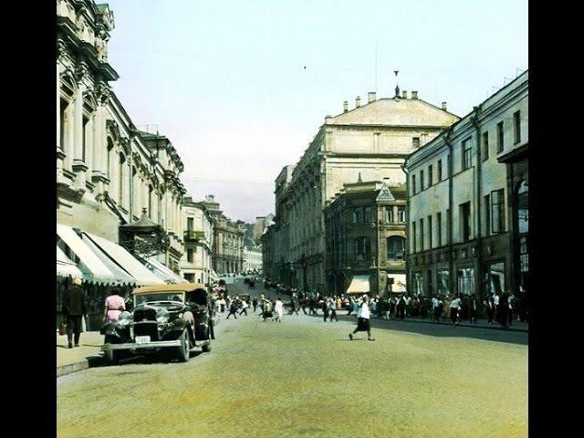1908 Moscow. Street Kuznetsky Most. Newsreel.