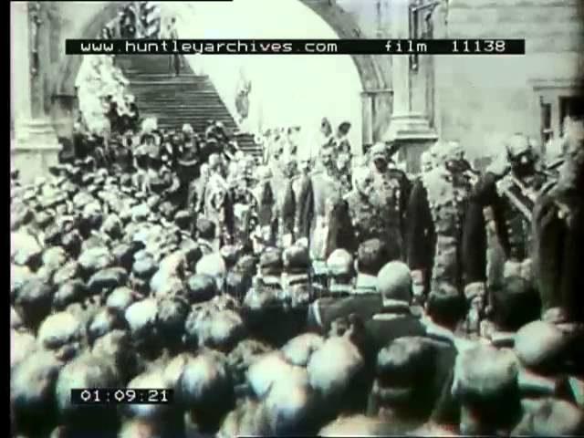 Coronation of Tsar Nicholas II, 14th May 1896, Russia.  Film 11138