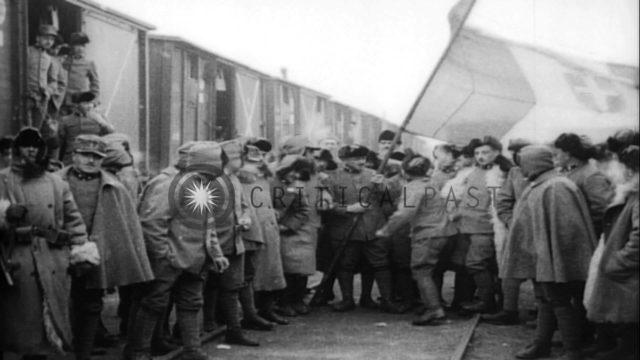 Czechoslovak Legion troops in Siberia during World War I. HD Stock Footage