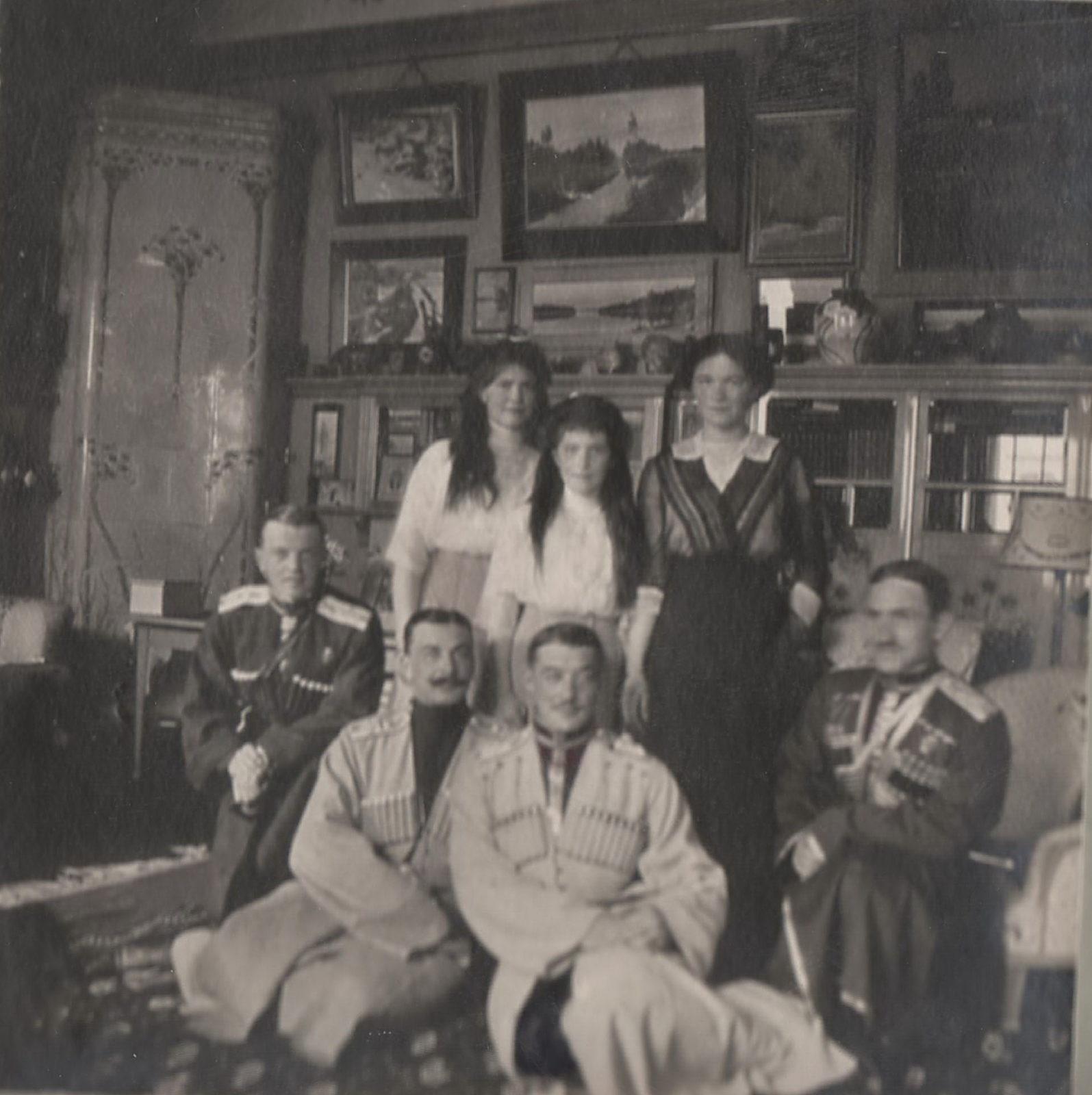 Daughters of Emperor Nicholas II Grand Princess Maria Nikolaevna, Anastasia Nikolaevna and Olga Nikolaevna.