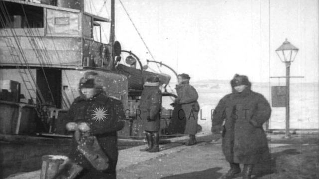 Elements of White Russian Navy in Siberia, Russia during World War I. HD Stock Footage