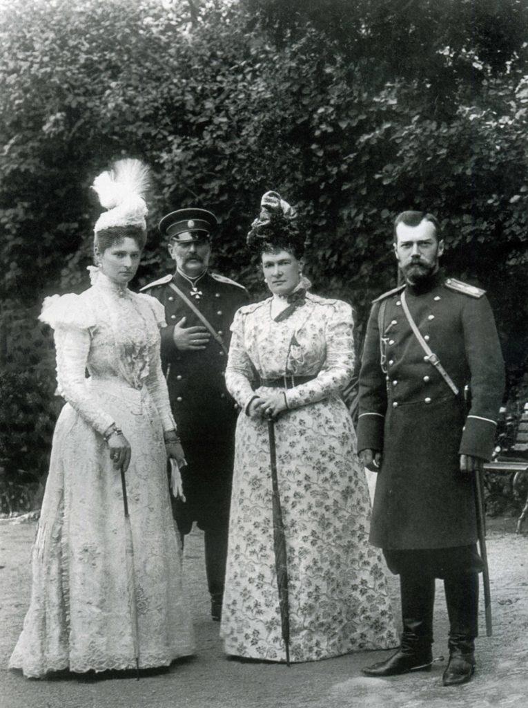 Group portrait: Emperor Nicholas II and Empress Alexandra Feodorovna.