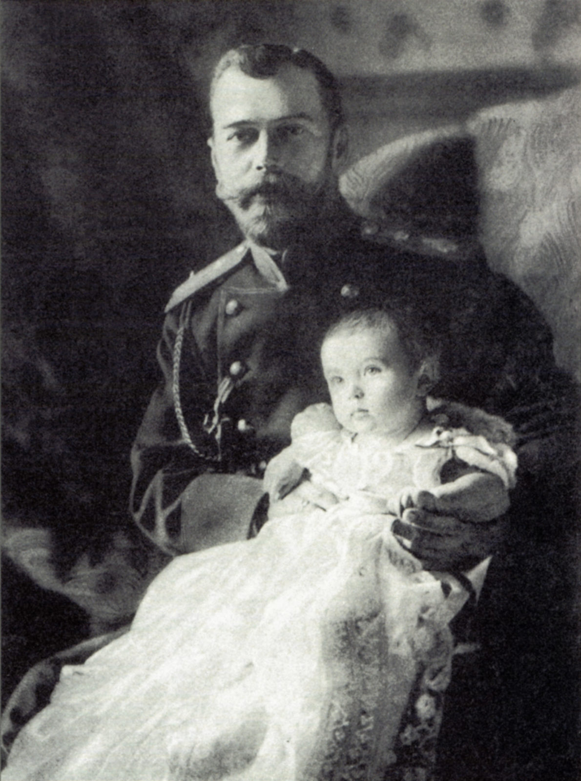Emperor Nicholas II and heir to the Russian throne Tsesarevich Alexei Nikolaevich.