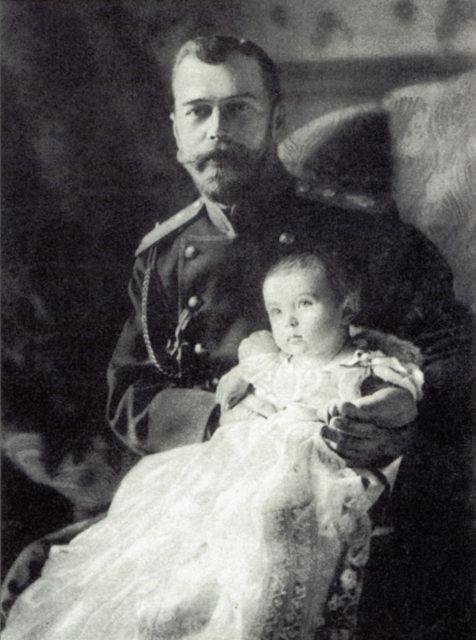 Emperor Nicholas II and heir to the Russian throne Tsesarevich Alexei Nikolaevich.