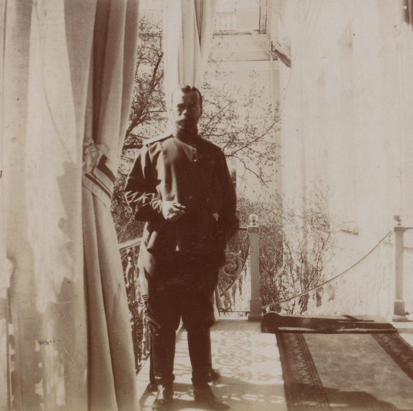 Emperor Nicholas II in moments of rest.