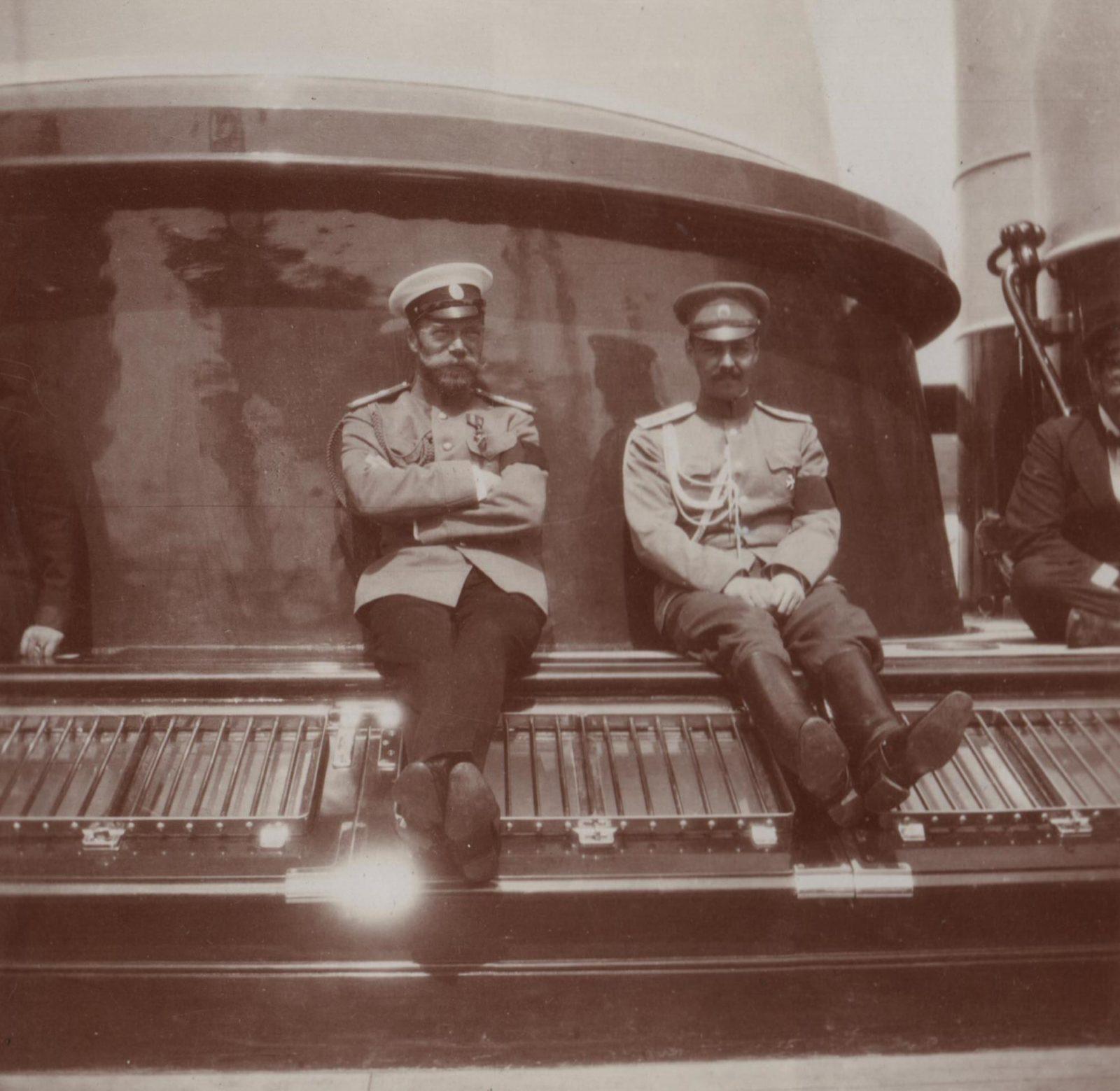 "Emperor Nicholas II on the yacht ""Standart""."