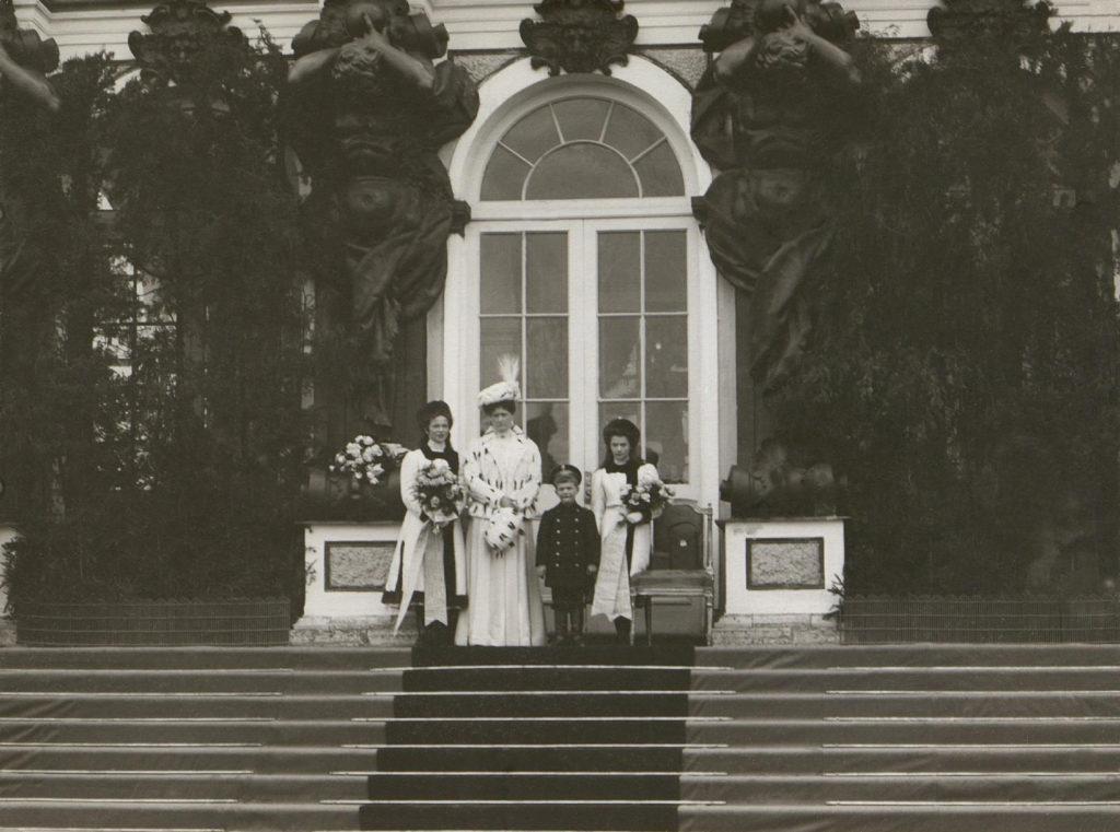 Empress Alexandra Feodorovna, Tsarevich Alexei and Grand Princess Tatiana, Grand Princess Olga Nikolaevna