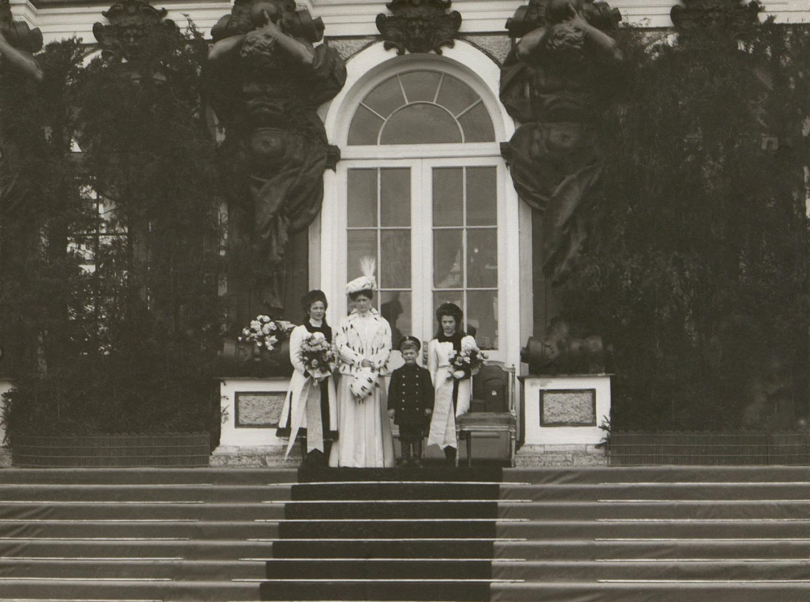 Empress Alexandra Feodorovna, Tsarevich Alexei and Grand Princess Tatiana, Grand Princess Olga Nikolaevna