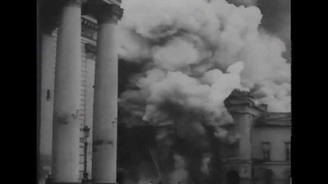Fire in the Maly Theater. May 2, 1914