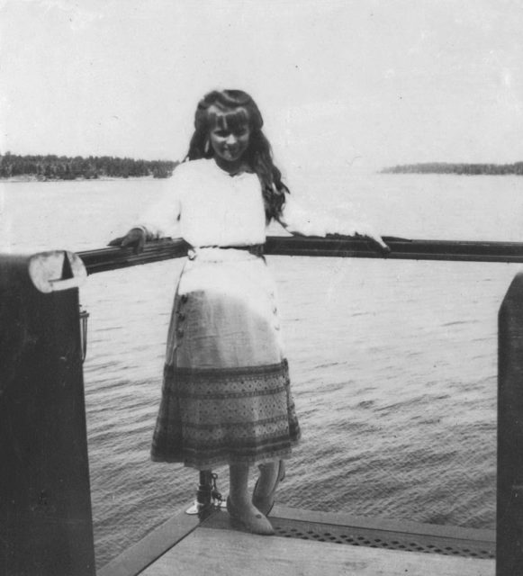 "Grand duchess Anastasia on board of ""Standart """