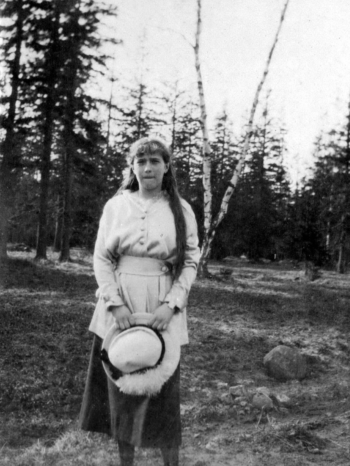 Grand Duchess Anastasia.Tsarskoe Selo. Spring 1916.