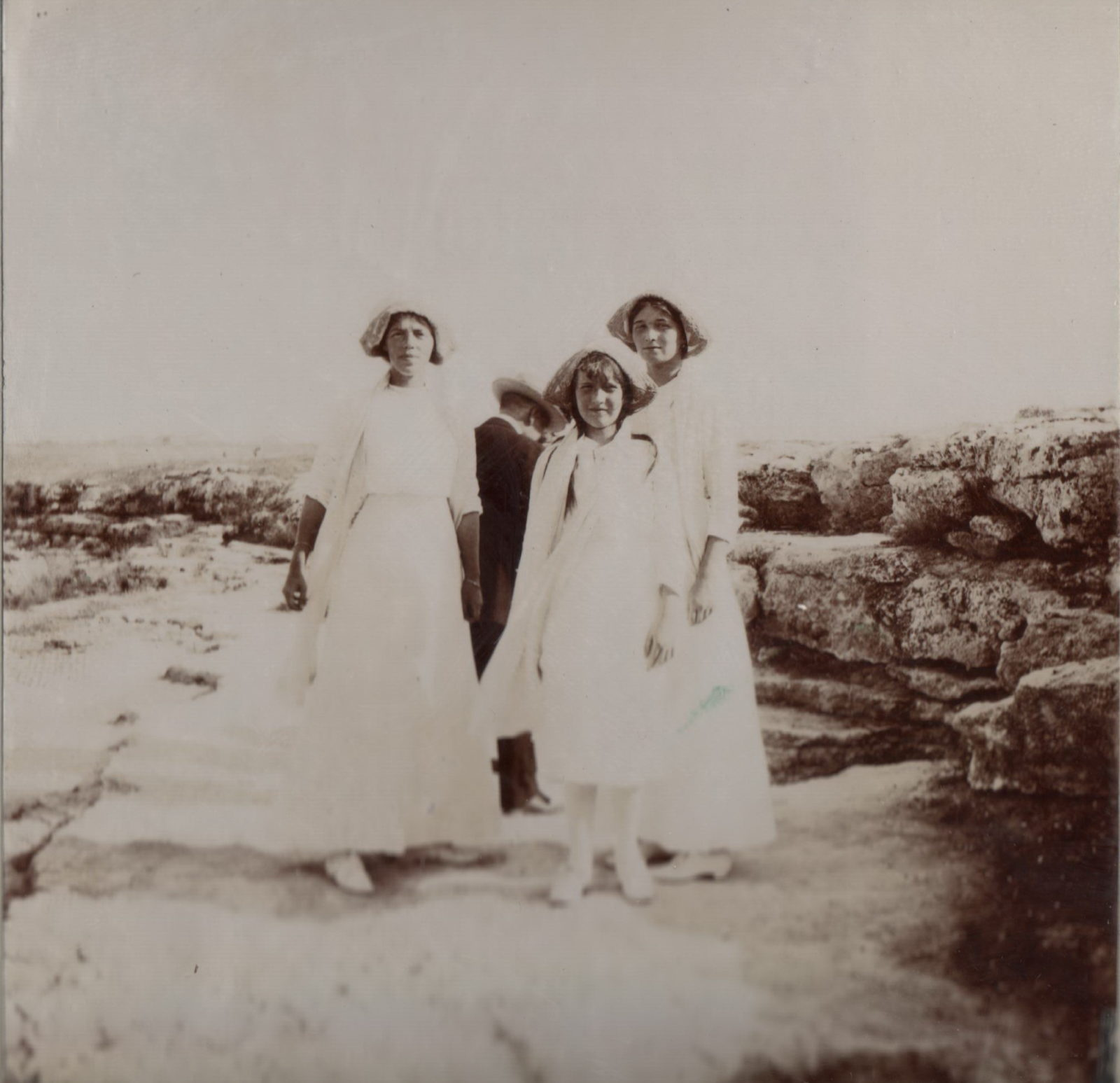 Grand Duchess Olga Alexandrovna and Grand Princess Anastasia Nikolaevna and Olga Nikolaevna.