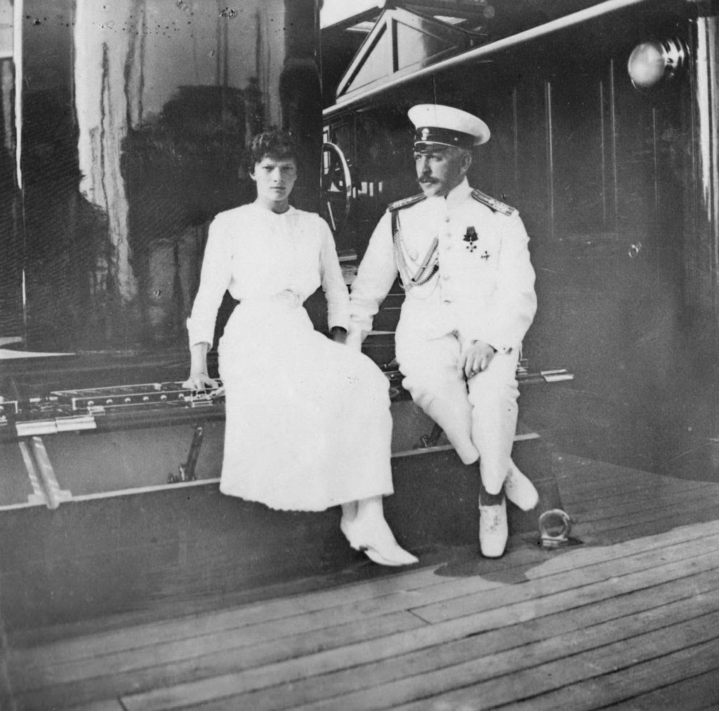 Grand duchess Tatiana with Sablin N.P. 1913.