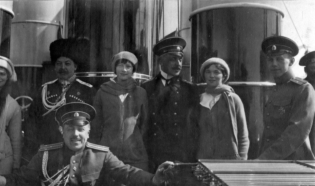 "Grand duchesses on board of ""Standart "" . 1914."