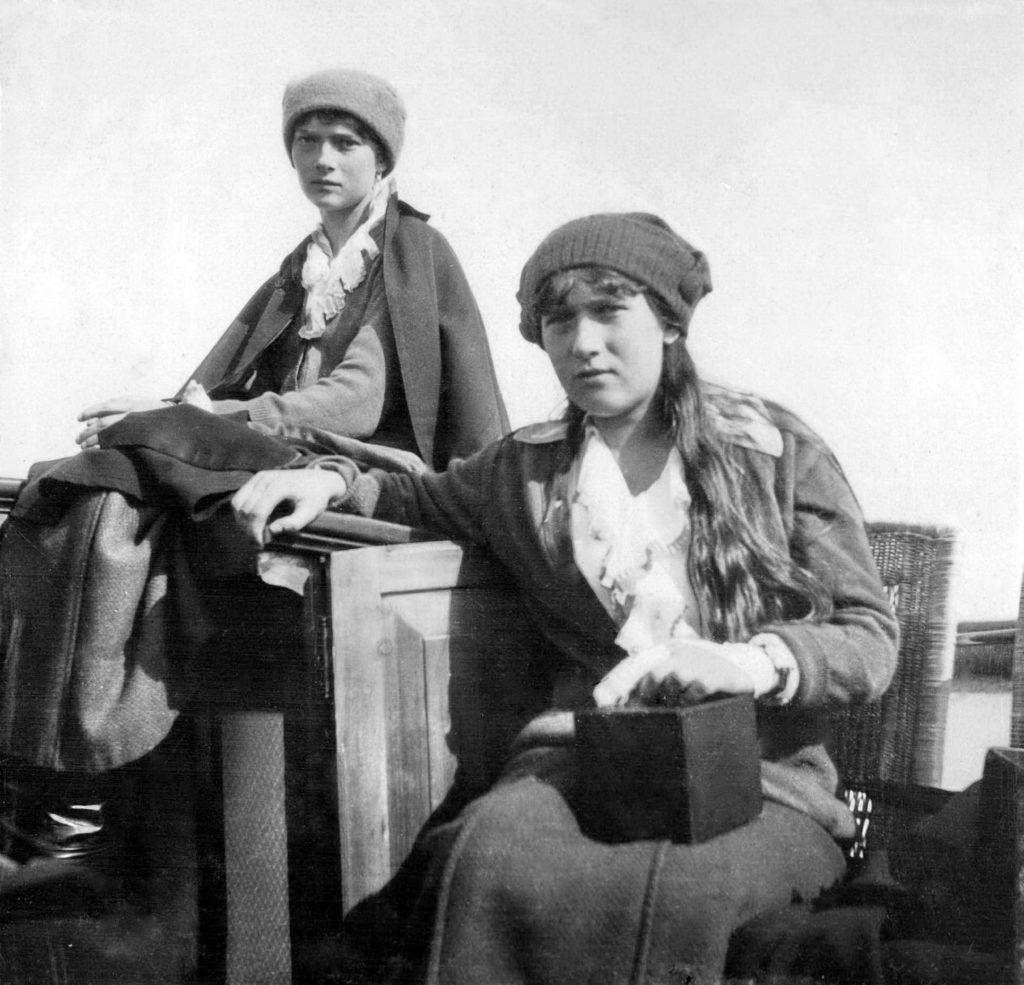 Grand duchesses Tatiana and Anastasia.1916.