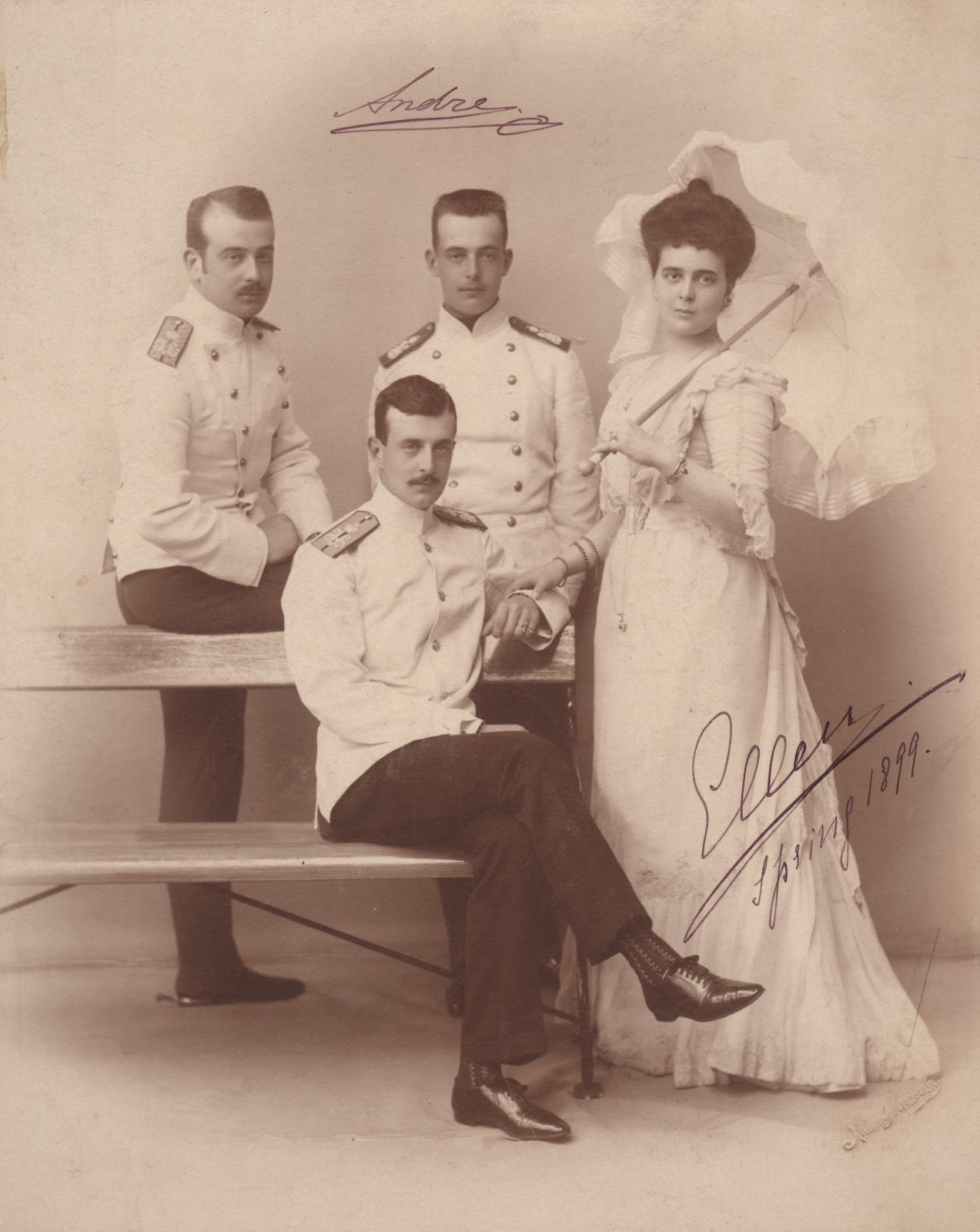 Grand Duke Kirill Vladimirovich with brothers Boris and Andrey and sister Elena.