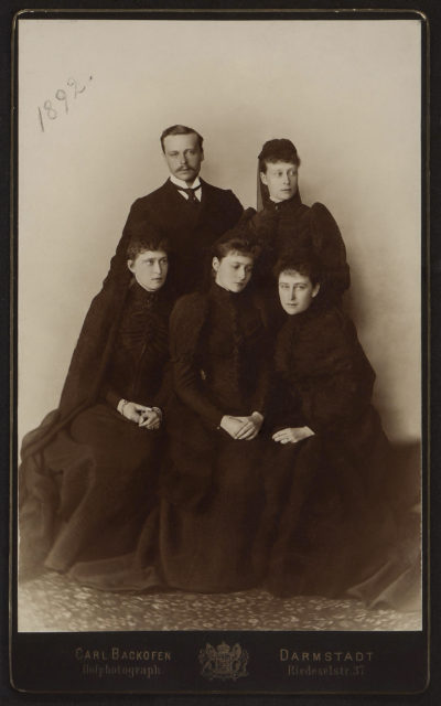 Hessen Family in mouring. 1892.