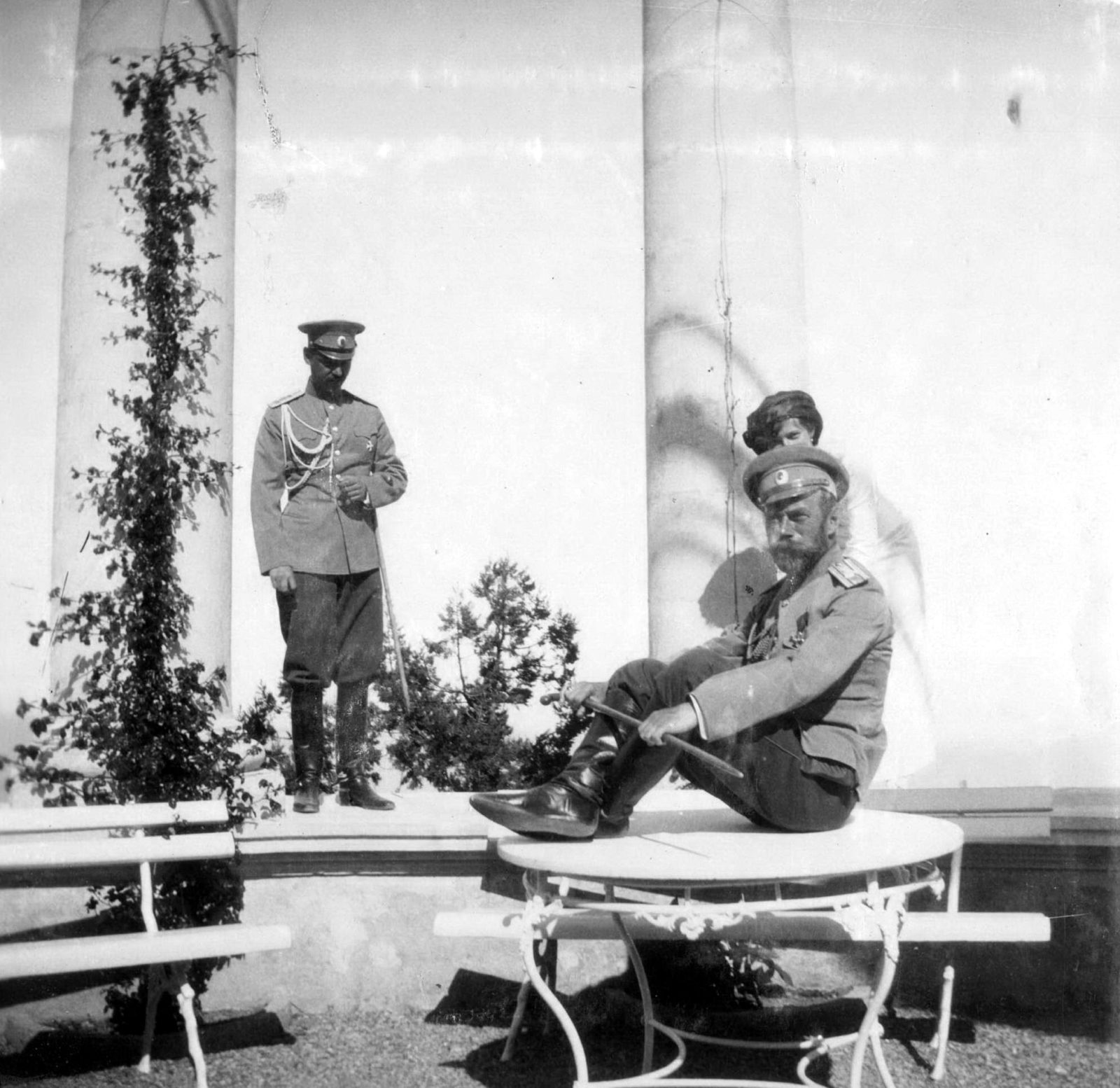 His Imperial Majesty the Emperor Nicholas Alexandrovich (Nicholas II) during the rest. Livadia Crimea. 1914 year.