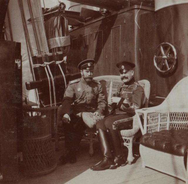 "His Imperial Majesty the Emperor Nicholas Alexandrovich (Nicholas II) on the Imperial yacht ""Standart"". 1914 year."
