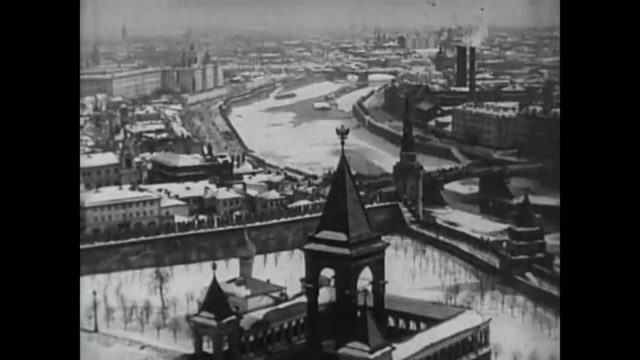 Moscow panorama of the city 1908. Newsreel footage.