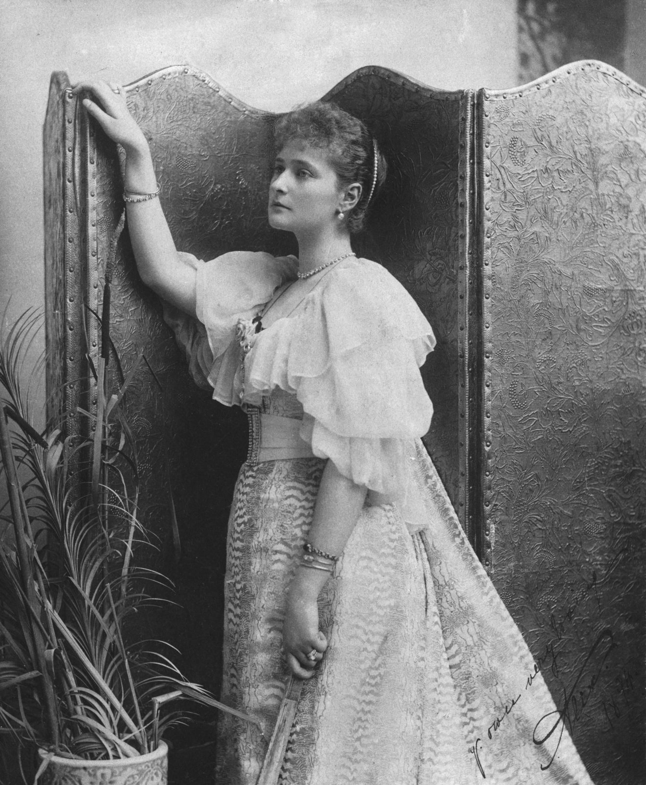 Princess Alice of Hesse future Empress All-Russia Alexandra Feodorovna. 1894 year.