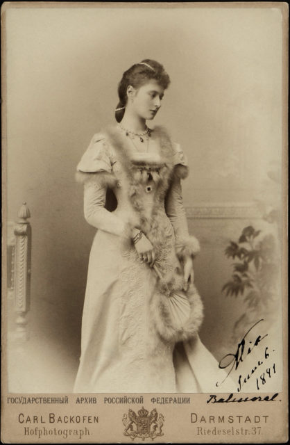 Princess Alix of Hesse, future Russian Empress. 1891.