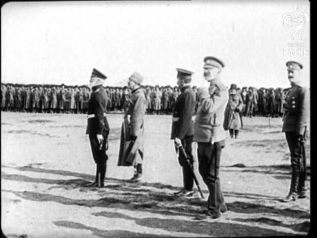 Russian Army Inspections: Czar Arrives On Train (1914-1916)