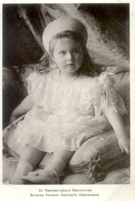 The daughter of Emperor Nicholas II Grand Princess Anastasia Nikolaevna.
