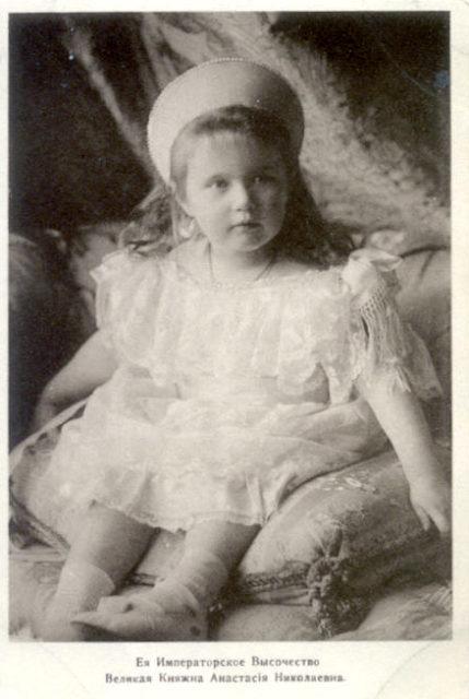The daughter of Emperor Nicholas II Grand Princess Anastasia Nikolaevna.