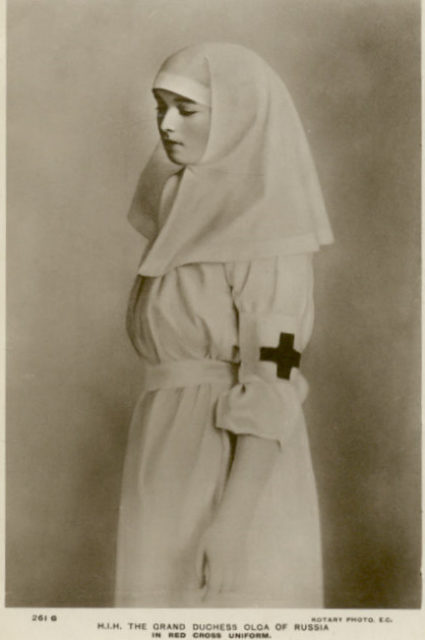 The daughter of Emperor Nicholas II Grand Princess Olga Nikolayevna - the sister of mercy.