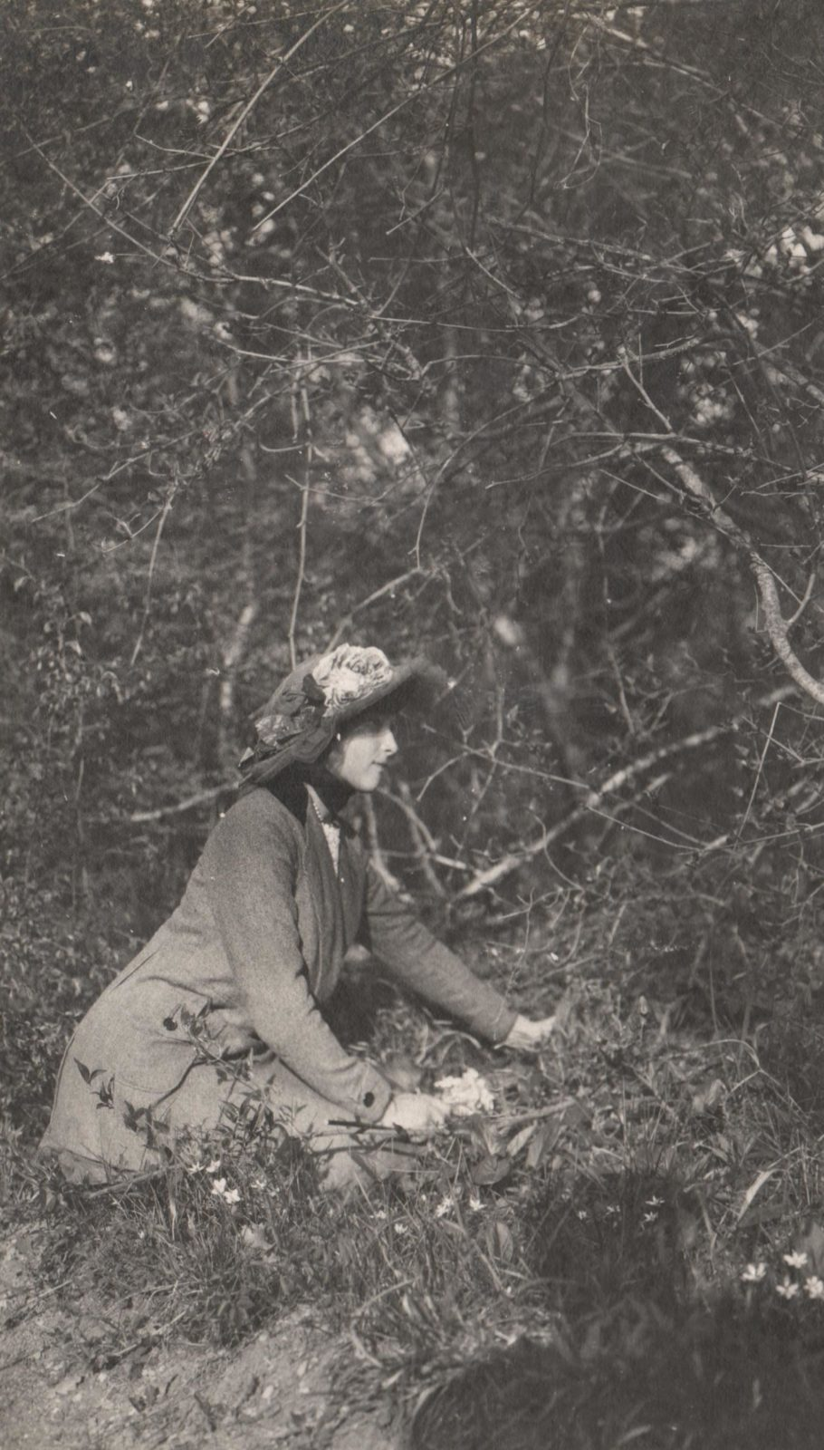 The daughter of Emperor Nicholas II Grand Princess Tatiana Nikolaevna in nature. Livadia.