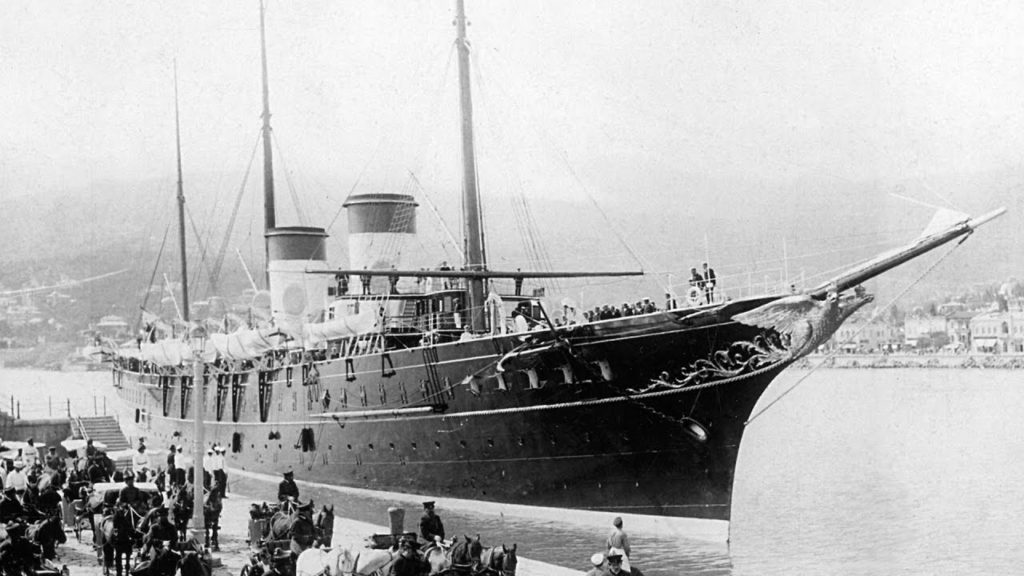 "Tsar Nicholas II & His Family aboard their yacht ""Standart"""