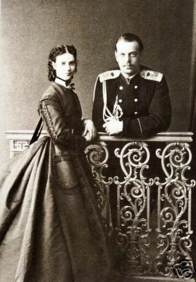 Tsesarevich Alexander (future Emperor Alexander III) and his wife Grand Duchess Maria Feodorovna.