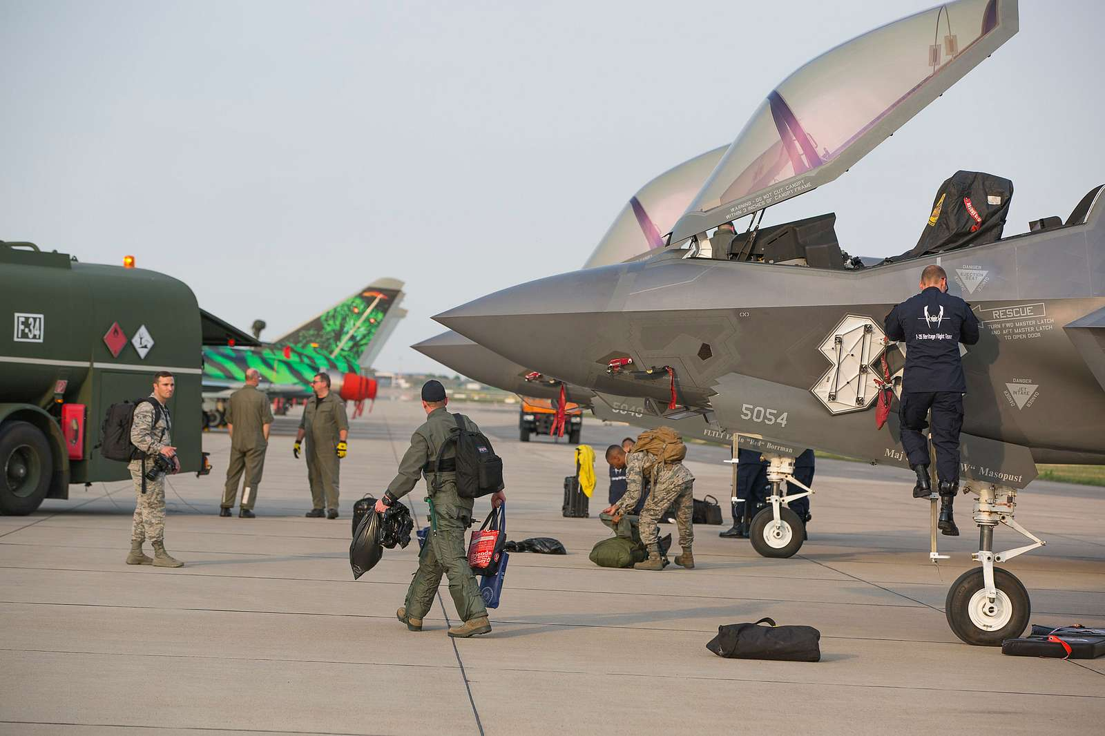 The  Lockheed Martin F-35 made its German debut at the ILA Berlin Air Show