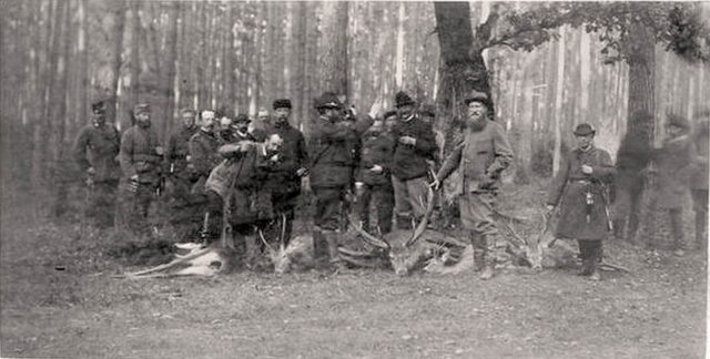 Alexander III on a hunt in Bialowieza.