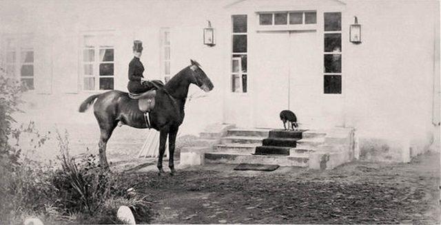 Empress Maria Feodorovna on a hunt in Bialowieza
