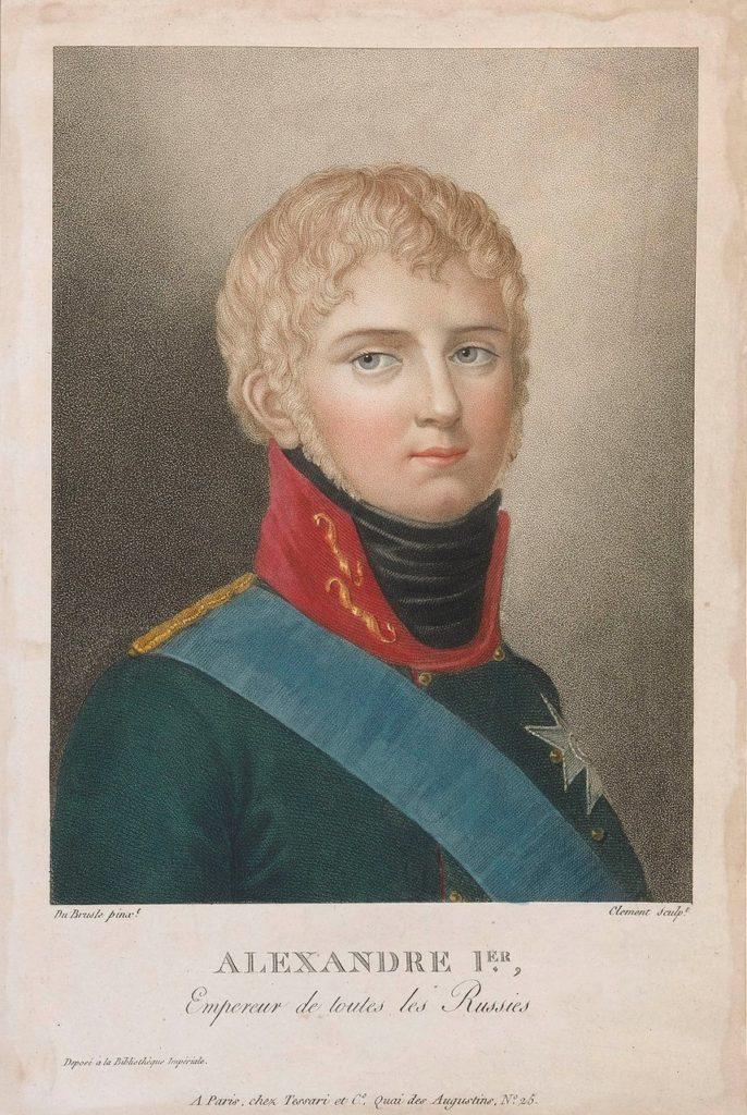 Alexander I, Aleksandr Pavlovich, emperor of Russia (1801–25). Portrait.