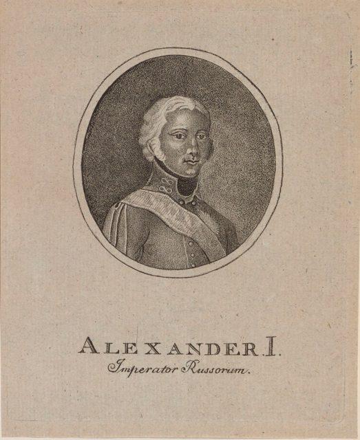 Alexander I, emperor of Russia (1801–25). Portrait.