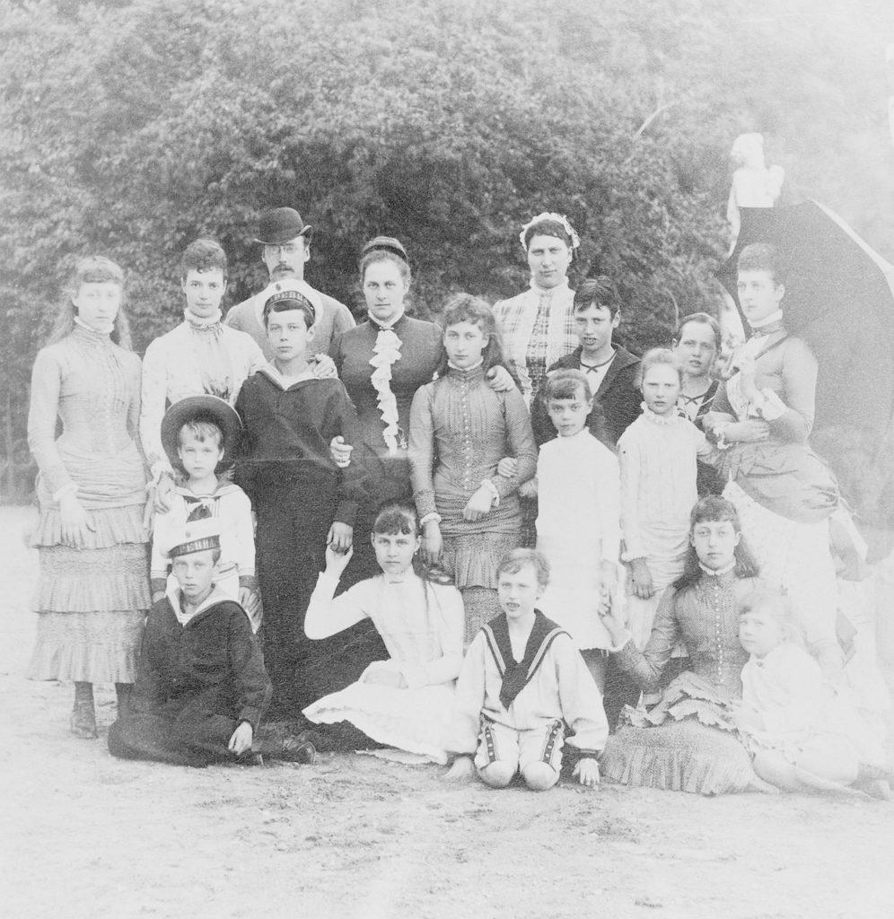 Empress Maria Feodorovna and members of Romanov family.