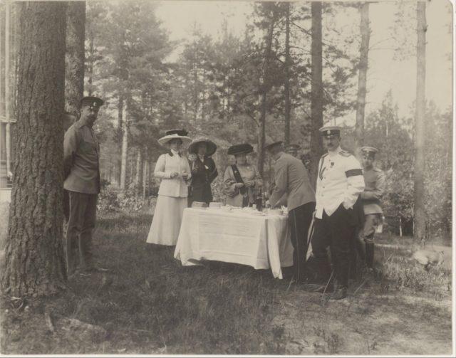 Grand Duchesses Maria Pavlovna, Elena Vladimirovna, Victoria Augusta, Grand Duke Boris Vladimirovich