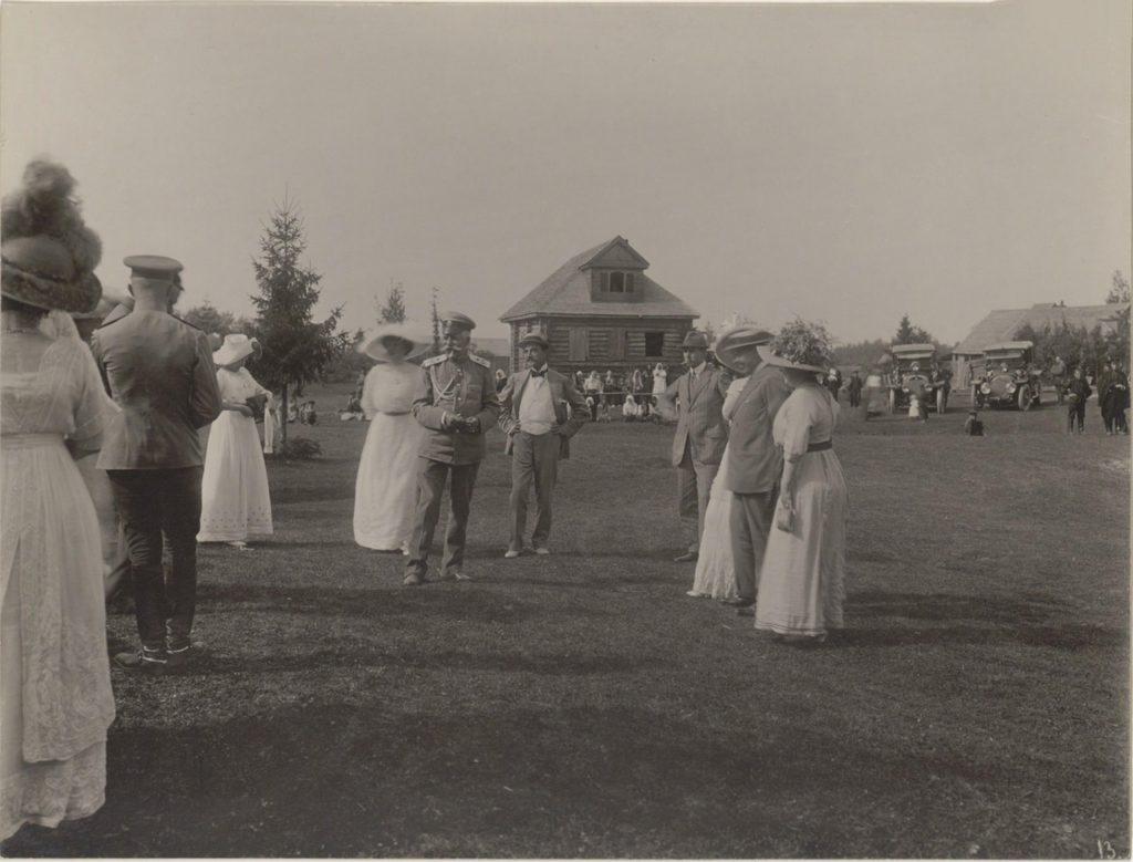 Grand Duke Andrei Vladimirovich. Romanovs at a picnic. Summer of 1913.