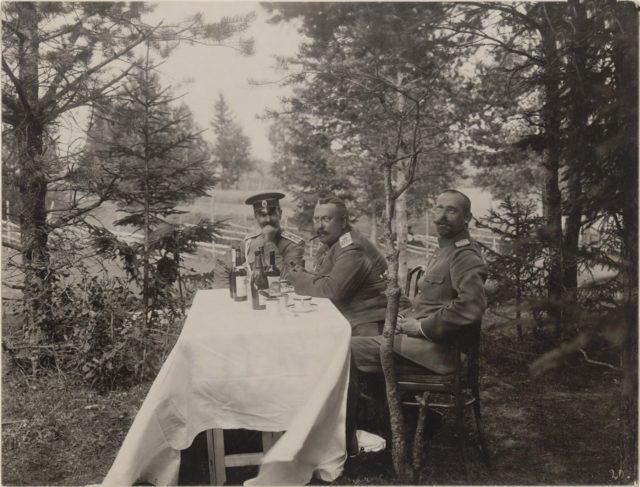 Romanovs at a picnic. Summer of 1913.