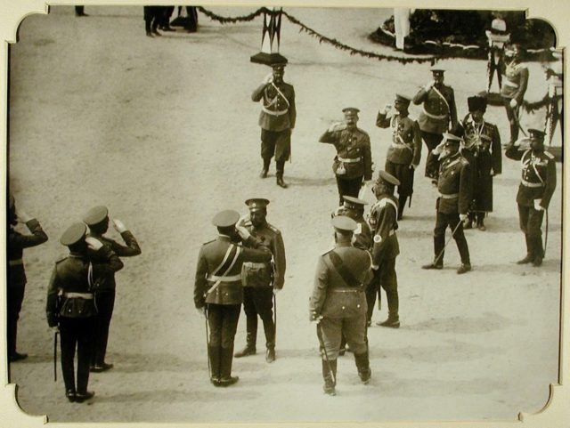 Arrival of Nicholas II to Odessa, 1914-1915