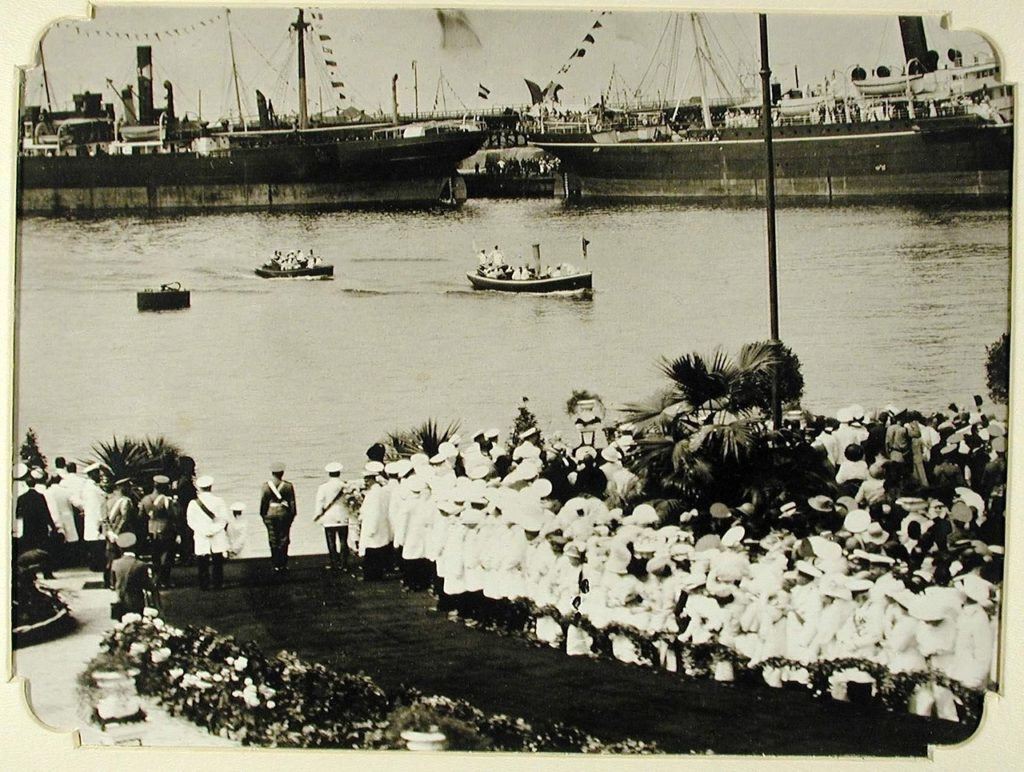 Arrival of Nicholas II boat to Odessa, 1914-1915