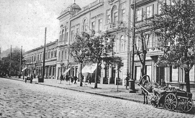 Ekaterininskaya street in direction to Greek street, Odessa, 1900-1914