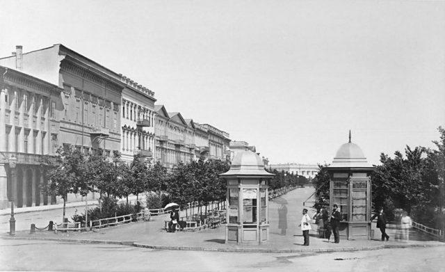 Boulevard in Odessa, Russian empire, 1900-1914