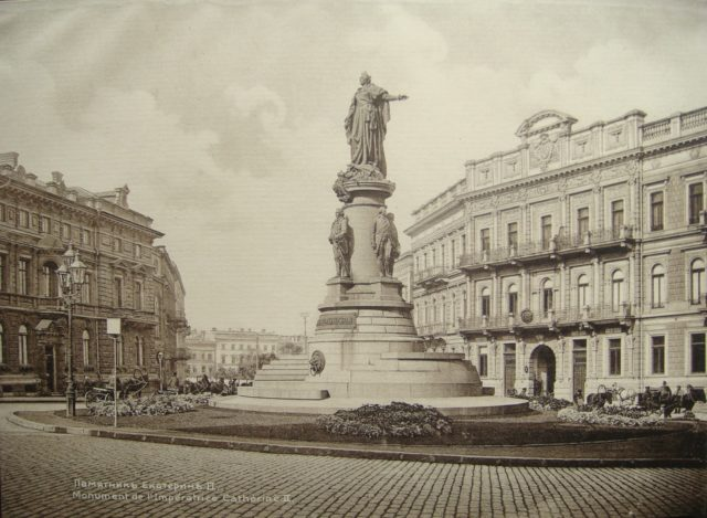 Monument to Catherine II The Great in Odessa
