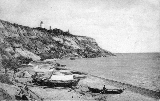 Odessa, The Great Fountain. Old lighthouse. 1900-1914