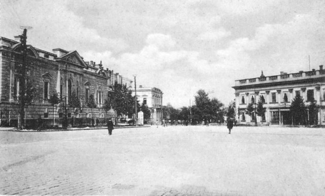 Stock Exchange Square and Nikolaevsky Boulevard, Odessa, 1900-1914